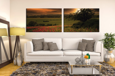 2 piece wall art, scenery multi panel art, green scenery large canvas, scenery huge pictures, living room photo canvas