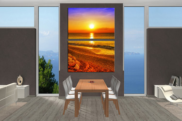 2 piece wall decor, dining room huge pictures, sea artwork, sunset huge canvas art, beach art