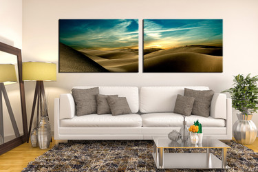 living room artwork, 2 piece pictures , desert huge pictures, landscape artwork, nature large canvas