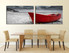 2 piece huge canvas print, dining room huge pictures, black and white canvas photography, sea photo canvas, boat wall decor