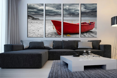 PAINTING YACHTS OCEAN SEA PRINT CANVAS WALL ART PICTURE AB86 MATAGA .