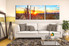 living room pictures, 3 piece canvas wall art, panoramic scenery large pictures, scenery photo canvas, scenery wall art