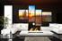 living room art, 4 piece canvas wall art, saguaro cactus multi panel canvas, scenery pictures, scenery huge canvas art
