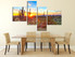 dining room wall art, 4 piece canvas art prints, scenery large pictures, scenery multi panel canvas, saguaro cactus pictures