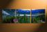 home decor, 3 piece large pictures, landscape canvas print, blue mountain huge pictures, landscape panoramic artwork