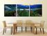 dining room art, 3 piece canvas art prints, blue mountain wall art, landscape artwork, landscape wall art