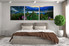 bedroom decor, 3 piece wall art, blue mountain pictures, landscape art, mountain canvas group canvas