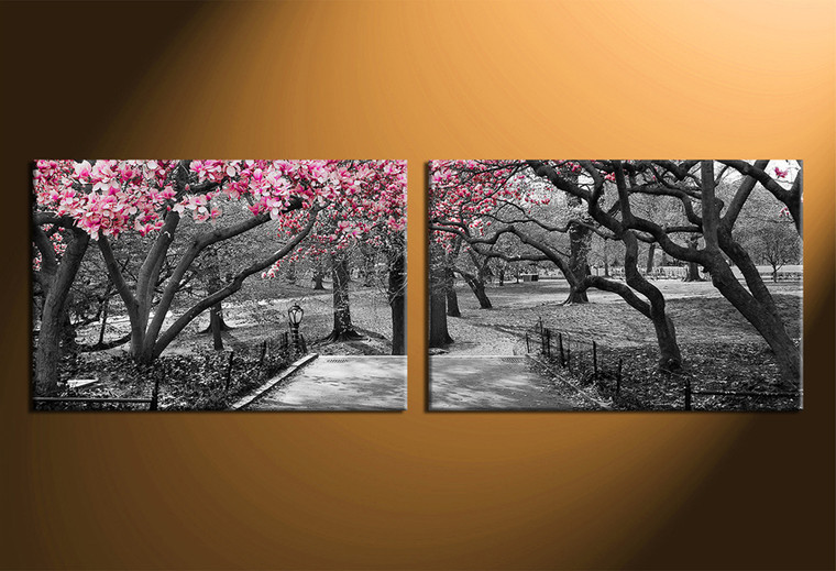 2 piece canvas wall art, scenery wall decor, black and white huge pictures, home decor