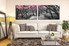 2 piece huge canvas art, living room canvas art prints, black and white art, scenery photo canvas