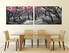 2 piece wall art, scenery large pictures, black and white multi panel art, dining room canvas photography