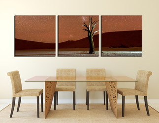 dining room art, 3 piece photo canvas, landscape canvas wall art, landscape multi panel canvas, landscape art