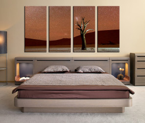 bedroom decor, 4 piece wall art, landscape pictures, mountain wall art, landscape art