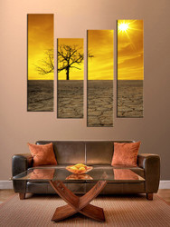 nature wall art, living room wall decor, 4 piece canvas art prints , sunrise canvas print, scenery huge pictures