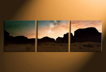 home decor, 3 piece canvas wall art, landscape multi panel canvas, brown mountain wall art, landscape panoramic artwork