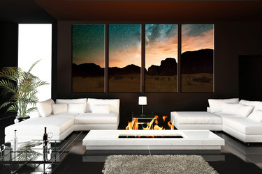 living room art, 4 piece canvas wall art, landscape multi panel canvas, landscape large pictures, mountain canvas photography