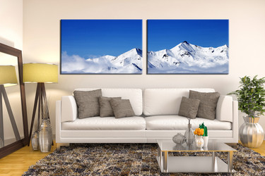 living room wall art, 2 piece wall art, landscape multi panel art, snow landscape large pictures, landscape photo canvas