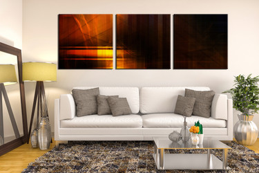 3 piece canvas photography, living room huge pictures, orange abstract multi panel art