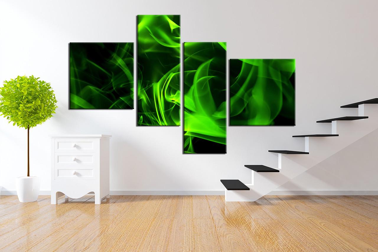 4 piece canvas wall art abstract wall art green abstract wall decor abstract