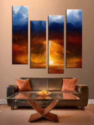 living room wall art, 4 piece canvas art prints, nature canvas print, scenery artwork, scenery canvas photography