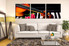 3 piece huge pictures, living room large pictures, violin piano group canvas, music canvas wall art