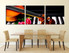 3 piece wall decor, dining room canvas photography, violin piano artwork, floral multi panel canvas