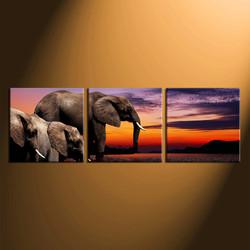 3 piece group canvas, home decor, elephant huge pictures, wildlife canvas wall art, animal wall decor, wildlife art