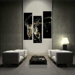 living room wall art,3 piece wall art, champagne wall art, wine large pictures, wine huge pictures
