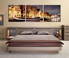 3 piece large pictures, bedroom photo canvas, star multi panel art, yellow huge canvas print, panoramic wall decor