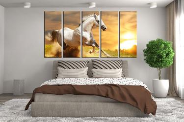 bedroom wall decor, 5 piece huge pictures, animal large canvas, wildlife huge pictures, wildlife multi panel art
