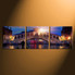 3 piece canvas wall art, home decor, blue large pictures, cityscape huge canvas print, sunrise artwork, panoramic canvas photography