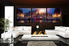 3 piece multi panel canvas, living room group canvas, cityscape  huge canvas art, sunrise wall decor, panoramic canvas print
