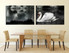 2 piece canvas wall decor, dining room huge canvas art, black and white photo canvas, wildlife artwork