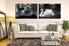 2 piece canvas wall art, living room group canvas, swan huge canvas art, wildlife multi panel canvas