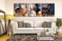 3 piece multi panel art, living room huge pictures, horse artwork, wildlife photo canvas, animal huge canvas art