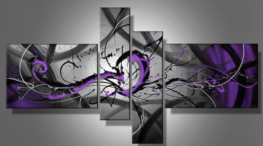 Purple Abstract Art Canvas