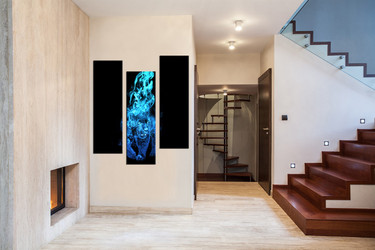 wildlife wall pictures, 3 piece canvas wall art, blue tiger multi panel canvas, wildlife huge pictures, animal group canvas