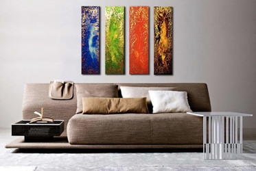 4 piece canvas photography, living room canvas print, colorful large canvas, abstract art