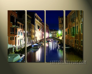 4 piece canvas print, home decor, city large pictures, colorful multi panel canvas, building huge canvas art