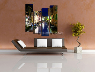 4 piece canvas photography, living room canvas wall art, colorful city huge pictures, city artwork