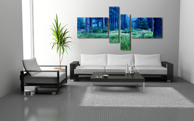 4 piece photo canvas, living room canvas wall art, scenery huge canvas print, scenery large pictures