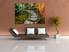 4 piece wall decor, living room huge canvas print, pathway photo canvas, green multi panel canvas, scenery large pictures