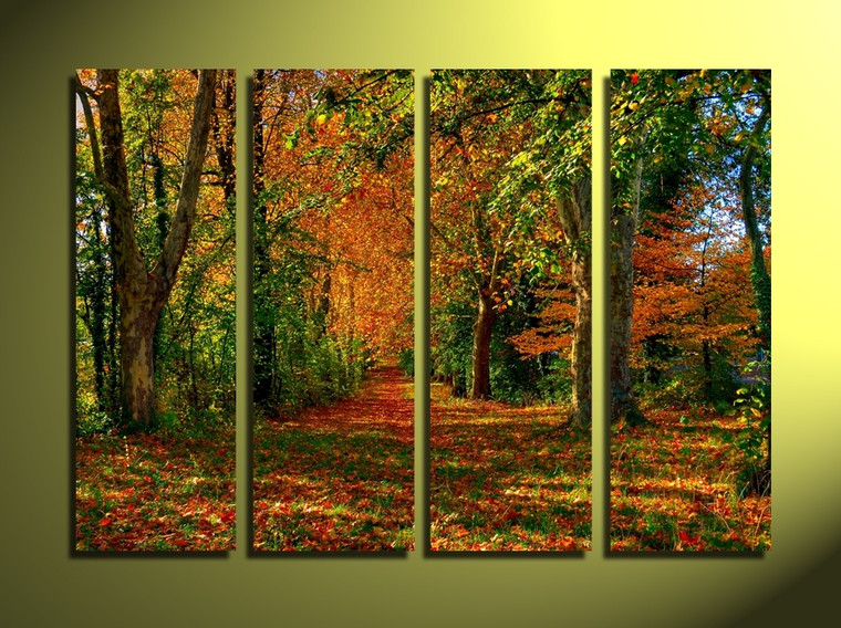 4 piece canvas wall art, home decor, scenery huge pictures, green trees art, scenery canvas photography
