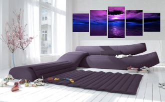 5 piece multi panel art, ocean canvas wall art, living room canvas photography, ocean wall art