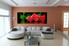 3 piece huge canvas art, living room group canvas, red rose photo canvas, floral artwork, floral decor