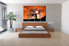 4 piece group canvas, bedroom group canvas, orange multi panel art, scenery wall decor, tree canvas photography