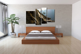4 piece canvas wall art, bedroom photo canvas, landscape photo canvas, brown artwork, mountain canvas photography