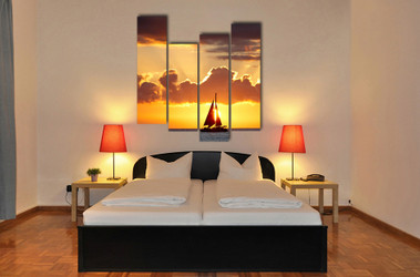 4 piece group canvas, bedroom huge pictures, ocean large canvas, ocean canvas wall art