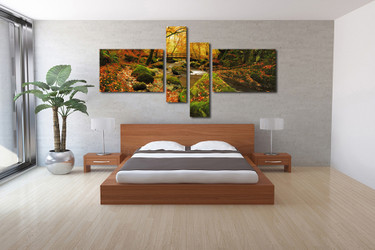 4 piece canvas photography, bedroom group canvas, scenery canvas wall art, nature decor, scenery artwork