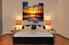 4 piece huge canvas art, bedroom photo canvas, scenery wall decor, orange art, panoramic canvas print,