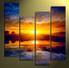 4 piece canvas wall art, home decor, scenery multi panel canvas, orange artwork, panoramic canvas photography